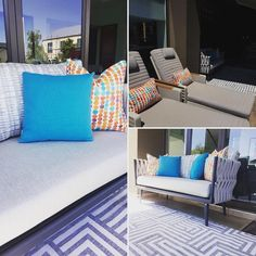 Outdoor Sofa, Outdoor Furniture, Outdoor Decor, Interior Styling, Interior Decorating, Motorized Blinds, Blinds Design, Home Automation System, Beautiful Space