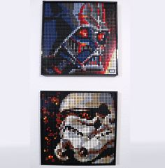 Made some custom Stormtrooper art to display alongside Vader. Stormtrooper Art, Lego Mosaic, Best Funny Pictures, Display, Anime, Floor Space, Billboard, Cartoon Movies, Anime Music