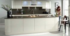 WREN - Modern Kitchens - Handleless cream gloss