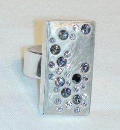 Swarovski Black and White Diamond Starburst Crystal par JLSjewelry, $38.00