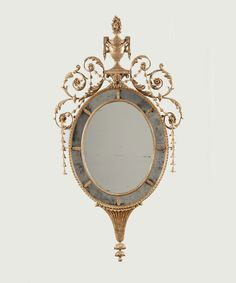 A George III Gilt-Wood Mirror in the Manner of John Linnell