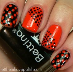 Polka Dot Nails. Need to try this!