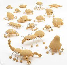 Creative Wooden Creatures Wooden Toy Design by Hakan Gürsu