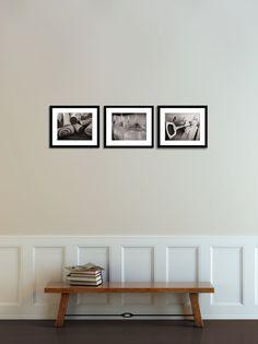 Set of 3 Black and White Wine Art Print by jessicareisspix on Etsy