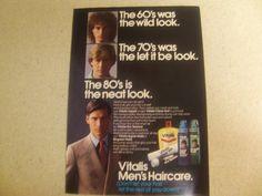 Vitalis Men's Haircare Vintage Magazine Advertisement