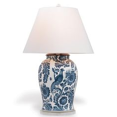 Blue and White Scalamandre Maison Arcadia Indigo Table Lamp Luxury Table Lamps, Table Lamps For Bedroom, White Table Lamp, Table Lamp Base, Lamp Bases, Bedroom Lighting, Blue And White Lamp, White Lamps, Chandeliers