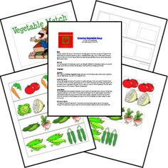 Growing Vegetable Soup unit printables garden fun theme preschool lapbook