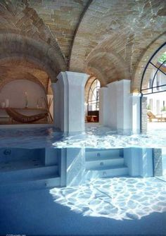 forget the pool - look at the ceiling! :) 22 Amazing Indoor Pool Inspirations For Your Home