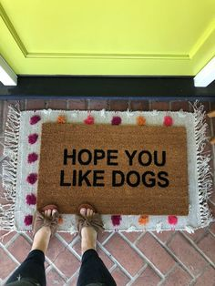 Dog Doormat / Funny Dog Door Mat / Welcome Mat / Rude Doormat Dog Room Decor, Home Decor, Dog Door Mat, Door With Dog Door, Dog Bedroom, Puppy Room, Dog Area, Funny Doormats, Dog Rooms