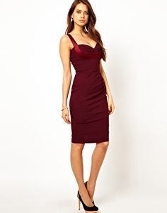 Hybrid Pencil Dress With Gathered Waist and Sweetheart Neck Maaanifique! <3