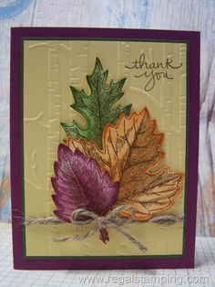 Stampin' Up has some wonderful fall stamp sets and accessories, including Vintage Leaves and the matching framelits. With Stampin' Up you get quality products at a reasonable price and a demonstrator to show you how to use them.