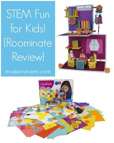 STEM toys for kids encourage an early love for STEM. Let kids have fun with STEM with the Roominate toy line! Check out our Roominate toy video review!