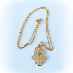 Best quality and Trendy hand of fatima Hamsa charm Necklace -  Hamsa Hand Necklace, Gold Hamsa Necklace,  Necklace arrives in a gift box on Etsy, $13.14