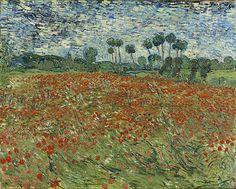 Vincent van Gogh (1853-1890) Papaverveld, juni 1890 73 x 91,5 cm Olieverf op doek Gemeentemuseum Den Haag. #KleurOntketend