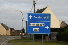 de weg van Elst naar Zwalm en Michelbeke ;-)