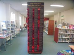 Eden Library honour board made for Anzac 2015 commemoration, based on local research and listing names of 185 men who enlisted from the Shire and died in WWI.