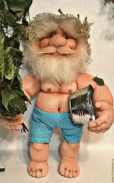 Купить банщик - кремовый, баещик, баня, талисман амулет оберег, интерьерная кукла
