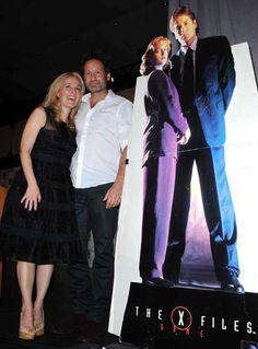 Gillian Anderson and David Duchovny reunited at comic con.