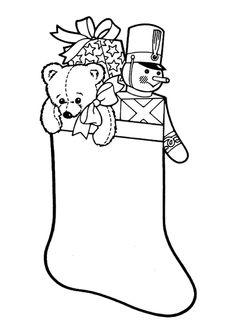 Coloriage enfant  Coloriage botte Noel a imprimer  Tte