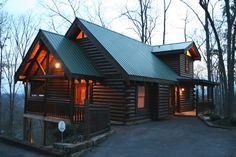 Tranquility Point, a secluded luxury log cabin with good access just minutes from the heart of both Gatlinburg and Pigeon Forge.