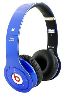 Monster Beats By Dre Solo Wireless High Performance On-Ear Headphones Color Blue