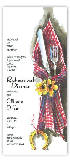 Rehearsal dinner invitation~ informal