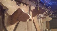 Steigerhouten eland met steigerhouten gewei