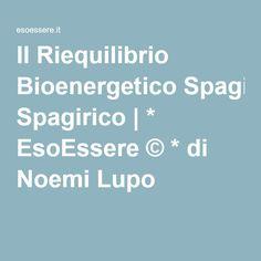 Il Riequilibrio Bioenergetico Spagirico | * EsoEssere © * di Noemi Lupo #metafisica #benessere #esoterismo #alchimia #spagiria