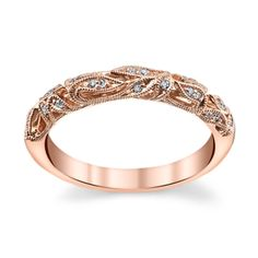 14K Rose Gold 0.08 Cttw. Diamond Wedding Ring By Peter Lam #RobbinsBrothersBling