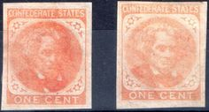 Confederate 1 cent stamps