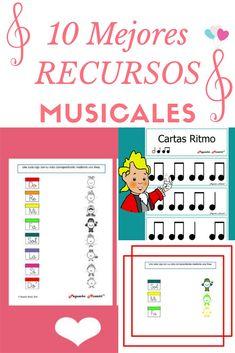 RECURSOS musicales pequeño Mozart. Ritmos y fichas didácticos para niños. Music Class, Music Education, Ukulele, Material Didático, Piano, Period Humor, Music Activities, Music For Kids, Elementary Music