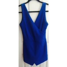 Royal Blue Jumper Asymmetrical Bottom - Worn once ! In great condition supper comfortable and flexible Mandee Dresses