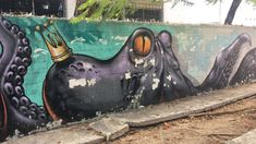 #graffiti #art #royal #king Trill Art, Royal King, Graffiti Art, Octopus, Calamari, Octopuses, Squidbillies