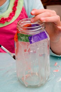 Lanterns- would be fun for a summer kids party *KELSEA* we could maybe find little fake tea lights to put in them if they aren't too expensive? Our kids could def do this!
