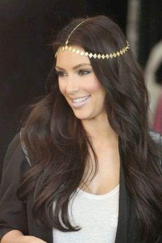 Cadenas de estilo Bohemio para el pelo.
