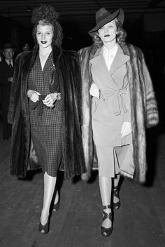 "theritahaywortharchive: """"Rita Hayworth and Marlene Dietrich, 1940s "" """
