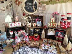 Christmas boutique display