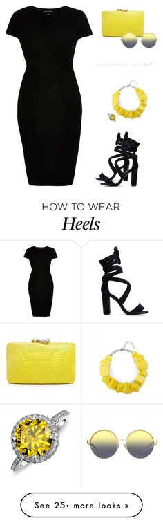 """""""when life gives you lemons..."""" by baboushkacouture on Polyvore featuring Kayu, Matthew Williamson, Bling Jewelry, River Island and Jaeger"""