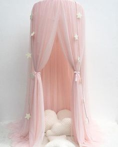 Lovely Hanging Netting Dome Play Tent Bed Curtain