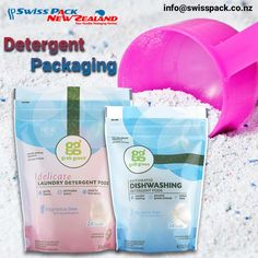 Our superior quality #DetergentPackaging #bags, #pouches and #rolls are useful for several liquid, powder or solid form of detergent products. www.swisspack.co.nz/detergent-packaging/