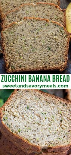 Zucchini Banana Bread [VIDEO] – Sweet and Savory Meals Zucchini Banana Bread is incredibly tender and easy to make, with delicious hints of banana and vanilla flavor, and pretty zucchini specs through it. Zucchini Banana Bread, Banana Nut Bread, Banana Bread French Toast, Best Nutrition Food, Candied Fruit, Gluten Free Banana, Easy Bread, Keto Bread, Zucchini