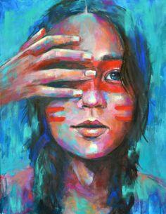 Taína Indian, Puerto Rico, los indios Taínos, cultura, Luzdy Art, BIPOC, Indígenas, indigenous, navie american Original Artwork, Original Paintings, Portrait, Puerto Rico, Pastel, Feelings, Eyes, The Originals, American
