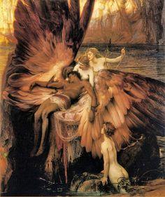 """Herbert James Draper: """"Lament for Icarus"""",1898"""