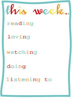 "Free ""This Week"" Journaling Cards for Project Life"