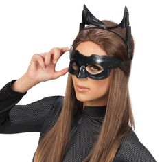 64ca775b472cf [Catwoman costumes] Batman The Dark Knight Rises Deluxe Catwoman Goggles  mask, Black, One Size ** Check out this great product.
