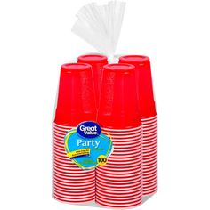 Great Value 18 Oz Plastic Party Cup, 100 ct for halloween party Packaging Saving ltpgtThese Great Value Cups are well-suited for almost any party situation. With a designed grip, these party cups are easy to hold, helping to reduce spills. These 18-oz cups can be used for multiple purposes. They also come in a convenient 100-cup pack.lt/pgt Great Value 18 Oz Plastic Party Cup, 100 ct Household Essentials Paper Plastic Disposable TabletopThese Great Value Cups are well-suited for almost any…
