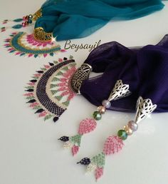 Tassel Necklace, Crochet Necklace, Crochet Art, Needle Lace, Diy And Crafts, Handmade Jewelry, Embroidery, Beads, Knitting