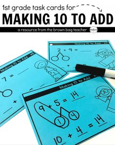 Making 10 to Add is one of the most important mathematical skills students build in first grade. This resource is intended for first-grade students who already successfully make 10 using manipulatives.