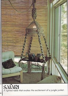 I HAVE to have a macrame table lamp!!!! I am SOOOOOO reverting back to my childhood.... hahahhahaa