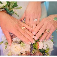 Gorgeous wedding day photo of three generations of women